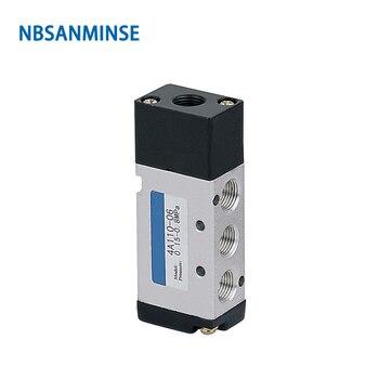 цена NBSANMINSE 4A110 4A120 4A130 Series M5 1/8 Pneumatic Control Valve Pneumatic Air Valve AIRTAC Type Automation Parts онлайн в 2017 году
