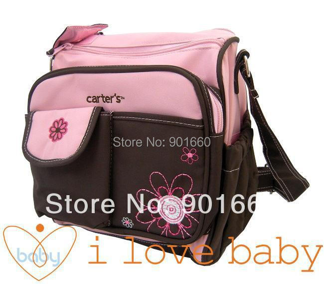 buy small flower baby diaper nappy changing bag 2 colors fro. Black Bedroom Furniture Sets. Home Design Ideas
