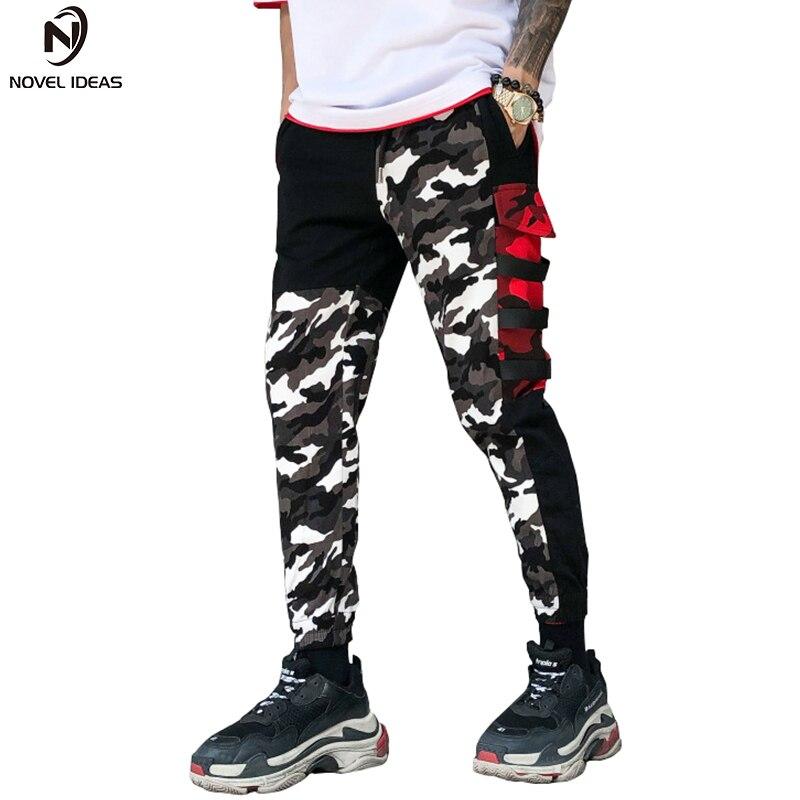 Nuove idee Pantaloni Mimetici Uomini Nuovi Uomini di Modo Multi Tasche Cargo Pants Mens Sciolto Sportwear Pantaloni Casual Marchio di Abbigliamento