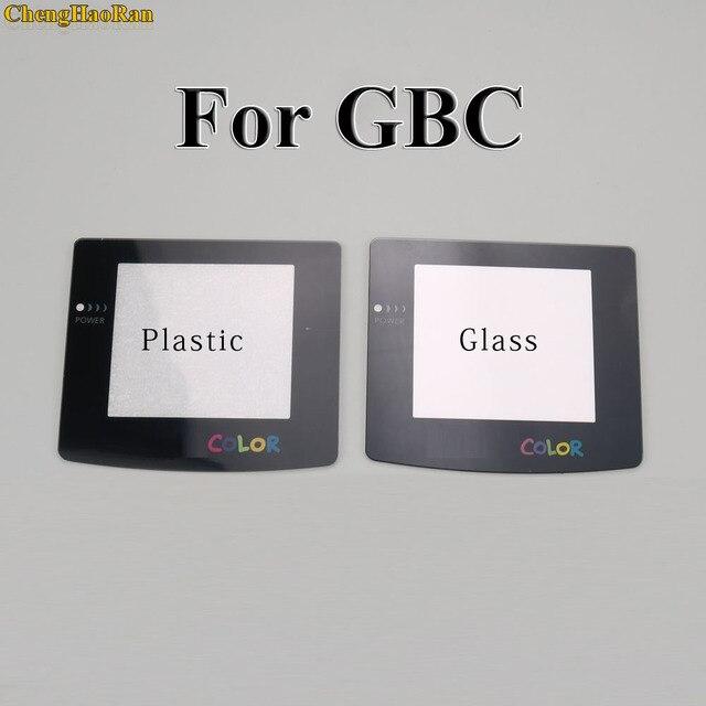 Lente de vidro plástica para a lente de vidro da tela de gbc gba para o protetor avançado da lente da cor do gameboy com/adhensive
