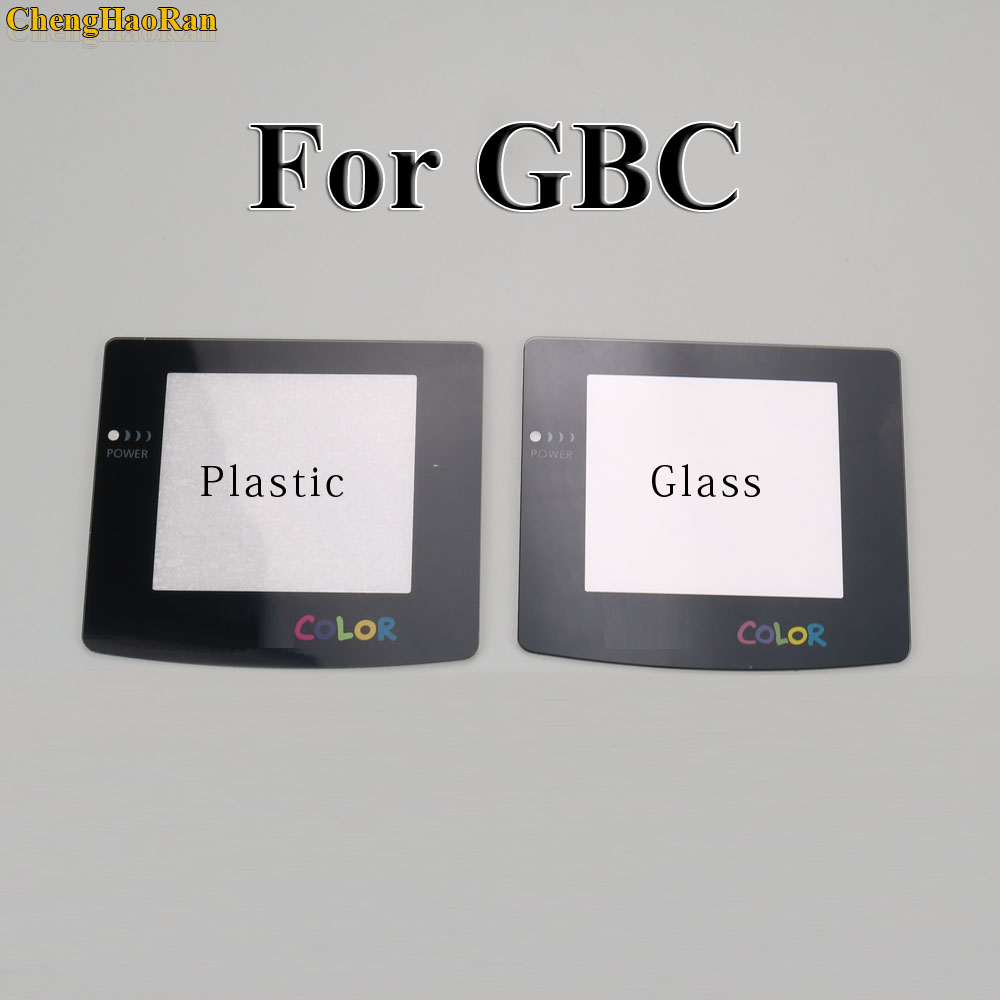 Plastic Glass Lens for GBC GBA Screen Glass Lens for Gameboy Advance Color Lens Protector W/ Adhensive-in Replacement Parts & Accessories from Consumer Electronics