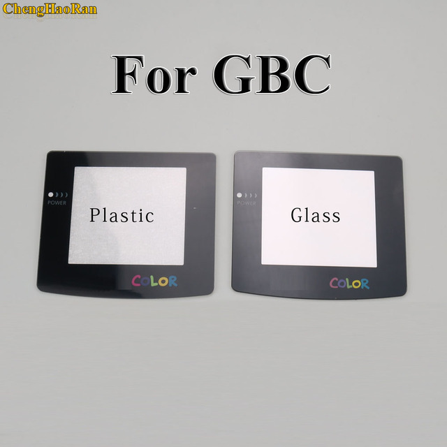 Plastic Glass Lens for GBC GBA Screen Glass Lens for Gameboy Advance Color Lens Protector W/ Adhensive