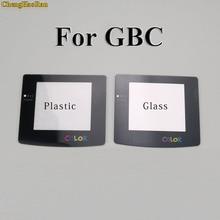 Plastikowa soczewka szklana do GBC GBA do szkła ekranu i soczewek do Gameboy Advance kolorowa osłona obiektywu W/Adhensive
