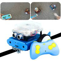 DIY Robot Car Kit with Intelligent Programming Assembled Remote Control Robot Toys