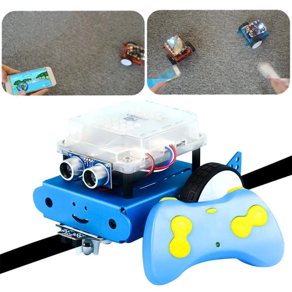 Kit de voiture Robot à monter soi-même avec programmation intelligente assemblé jouets Robot télécommandés