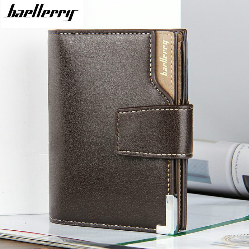 brand Wallet men leather men wallets purse short male clutch leather wallet mens money bag quality guarantee цена