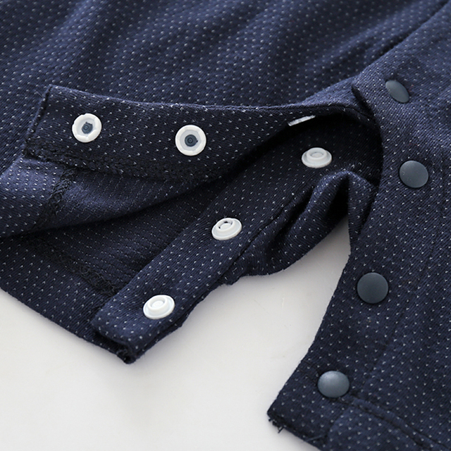 Boys' Cute Cotton Covered Buttons Rompers