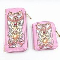 four model of Sakura Fashion Women short Wallets Female Cards Holders Cartoon Long Wallets With Zipper woman hand Bags Kids Wallets