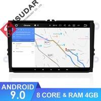 Isudar 1 Din Android 9 Auto Radio For Volkswagen/VW/POLO/PASSAT/Golf/Skoda/Octavia/Seat/Leon Car Multimedia GPS Player USB DVR