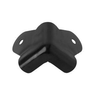 Image 2 - 4PCS ลำโพงมุมโลหะมุมโค้งมน Protector กีตาร์ Amplifier STAGE ตู้อุปกรณ์เสริมสีดำ