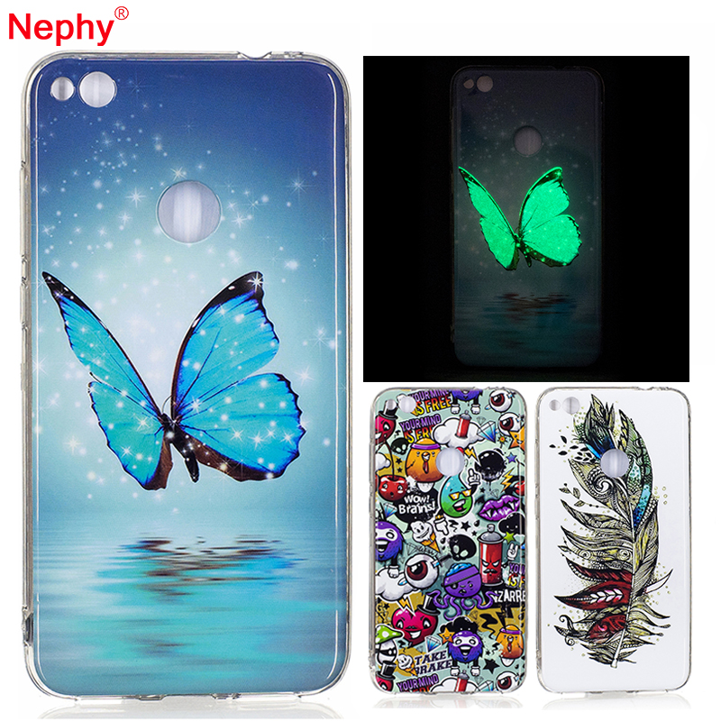 Galleria fotografica Nephy High Quality Soft TPU Case For Huawei P8 Lite 2017 P8Lite Cover 12 Styles Pattern Beatilyful Flower Silicone Glitter Coque
