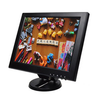 ZHIXIANDA 12 inch Security LCD LED Monitor CCTV Computer Monitors AV BNC VGA HDMI USB Desktop monitors with Speakers
