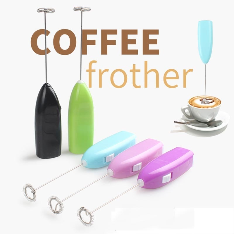 1PCS Kitchen Coffee Electric Milk Frother Foamer Rother Drink Whisk Mixer Egg Beater Mini Handle Stirrer Kitchen Tool Household