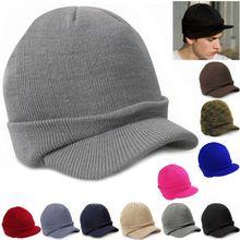Мужская женская вязаная мешковатая зимняя шапка большого размера Лыжная громоздкая шикарная шапка-козырек