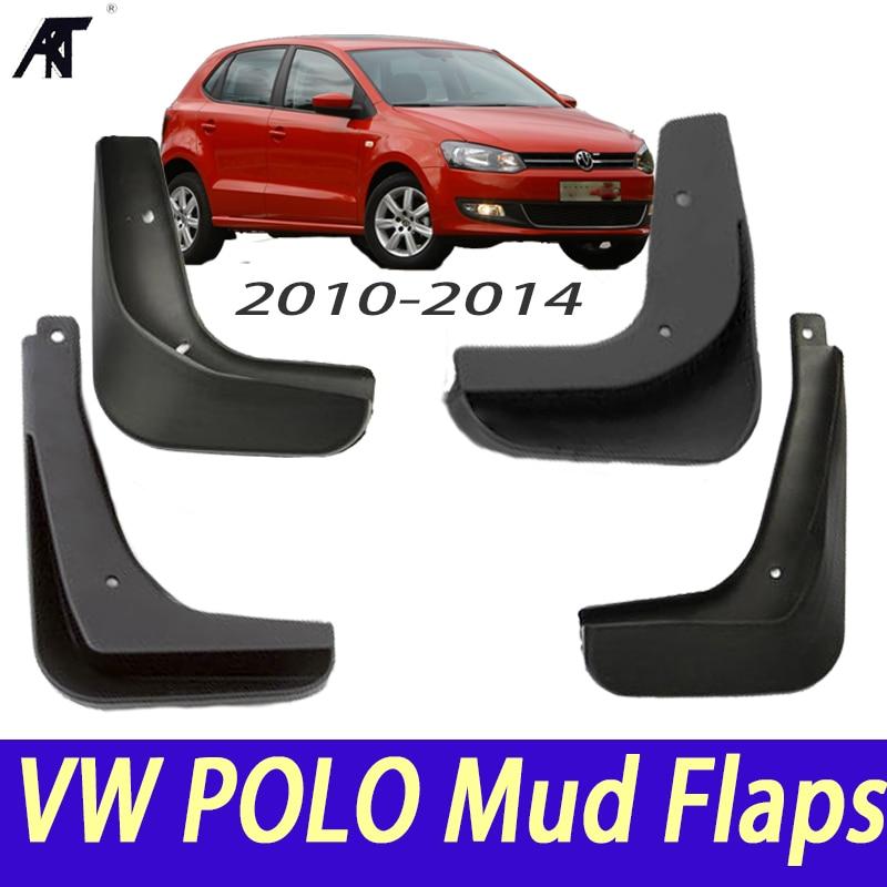 Set Mud Flaps For VW Polo Mk5 6R 2010 2014 Mudflaps Splash Guards Front Rear Mud