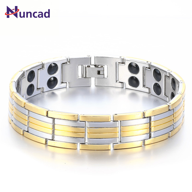 Nuncad Energy Men S Magnetic Cuff Bracelets Health Care Pulseiras Casting Jewelry Bangles Armband Adjule