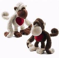 NICI pluszowe zabawki wypchane lalki uroczy kochanka małpa gibon małpa para Mona love heart & Lou story kid dziecko urodziny prezent na boże narodzenie 1 pc