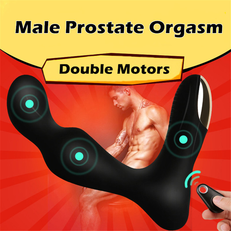 MizzZee Wireless Remote Control Vibrator Male Prostate Massager Waterproof Vibrating Anal Sex Toy USB Rechargeable Butt Plug anal sex toys usb charging prostate massager 360 degree rotation wireless remote control prostata vibrator for men