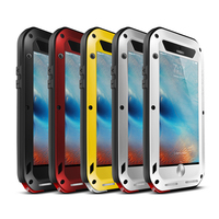 Love Mei Armored Hybrid Cover Waterproof Case For IPhone SE 5 5S 6 6S Plus Fundas