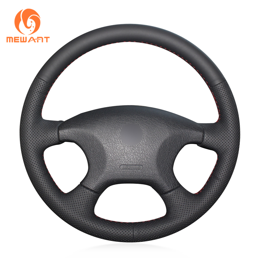 MEWANT Black Genuine Leather Car Steering Wheel Cover for Citroen Elysee c-elysee Citroen Xsara Picasso стоимость