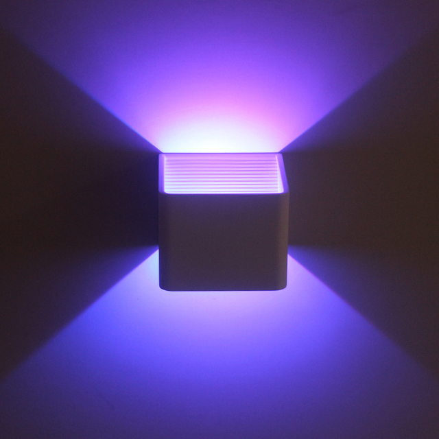 Led Dimming Night Light 3w Rgb Nightstand Wall Mounted Lamp Sconce Remote Control