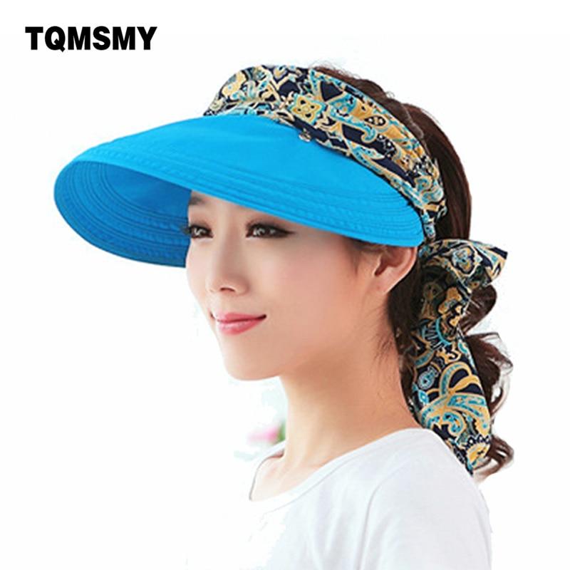 Moda uv del sole del cappello del sole di estate cappelli per le donne cappello di paglia delle ragazze beach organza cap visiere Cappellini multiuso pieghevole floppy cappello