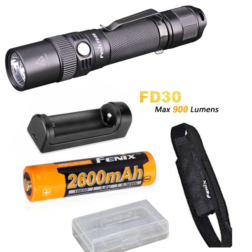 Fenix FD30 900 Lumen Zoomable Rechargeable Tactical LED Flashlight with Fenix 2600mAh 18650 Battery, ARE-X1 Charger шина toyo observe gsi 5 205 70 r16 96q