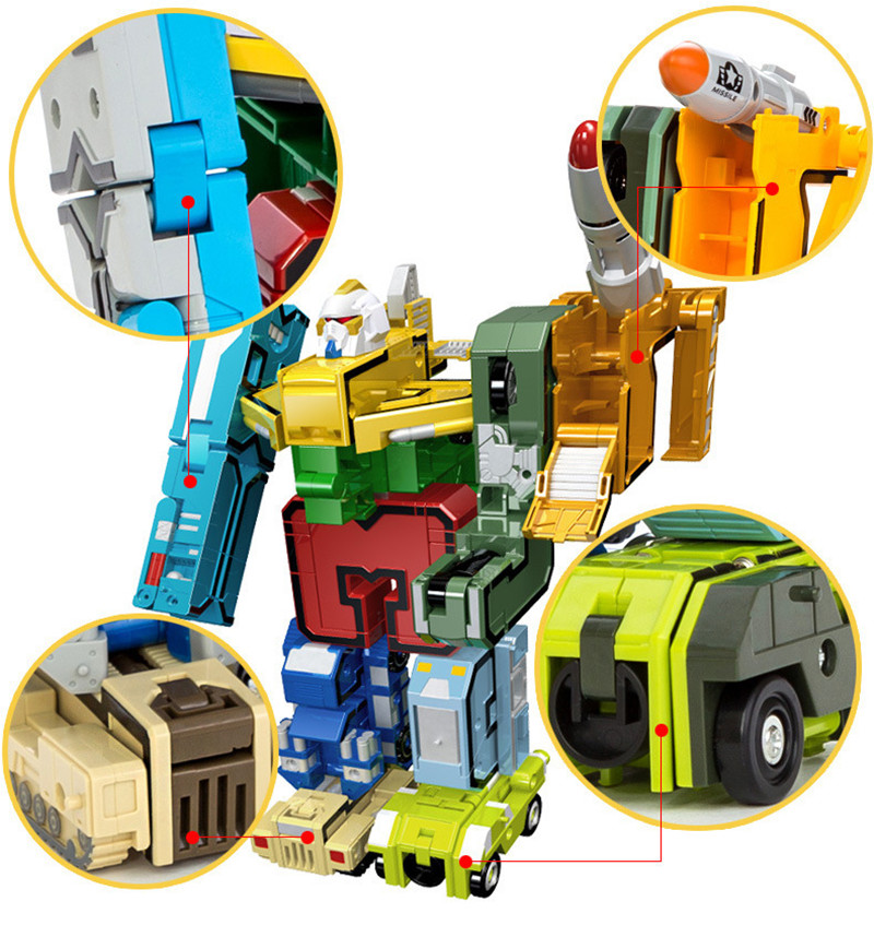GUDI 2086 Transformer Number Robot Bricks 10 in 1 39