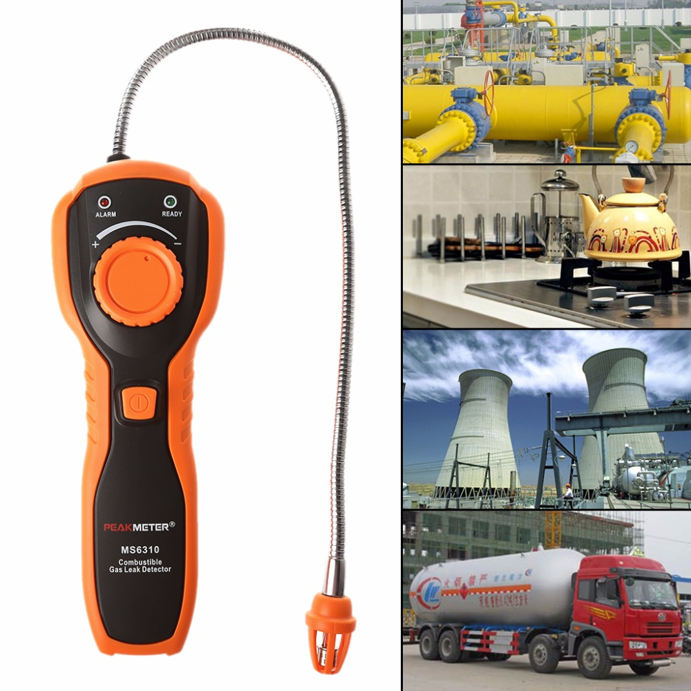 Combustible Natural Gas Leak Detector Portable Tester with Sound Light Alarm D28