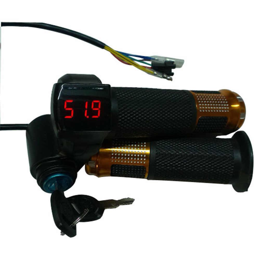 24V/36V/48V/60V/72V twist Throttle ebike with Battery power LCD display Switch Handlebar Grips for electric bike/scooter/ebike