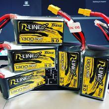 Tattu r line Version 3.0 V3 1300/1400/1550/1800/2000mAh 120C 4S 6S 4.2V Lipo batterie XT60 Plug FPV course Drone RC quadricoptère