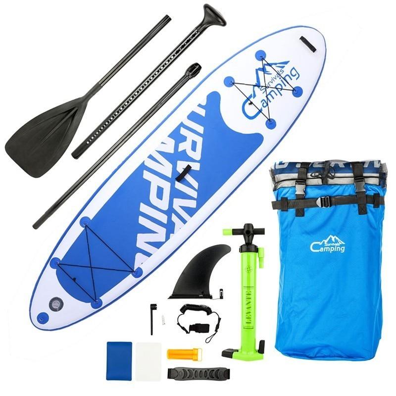 Qualité gonflable SUP Stand Up Paddle Board planche de surf ensemble complet adulte planches de surf 2 couleurs avec pompe, sac étanche, pulpe, Sup
