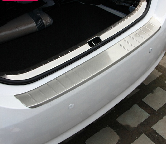Auto rear bumper protector trim interior and exterior for toyota corolla 2014 2015,stainless steel,auto accessories