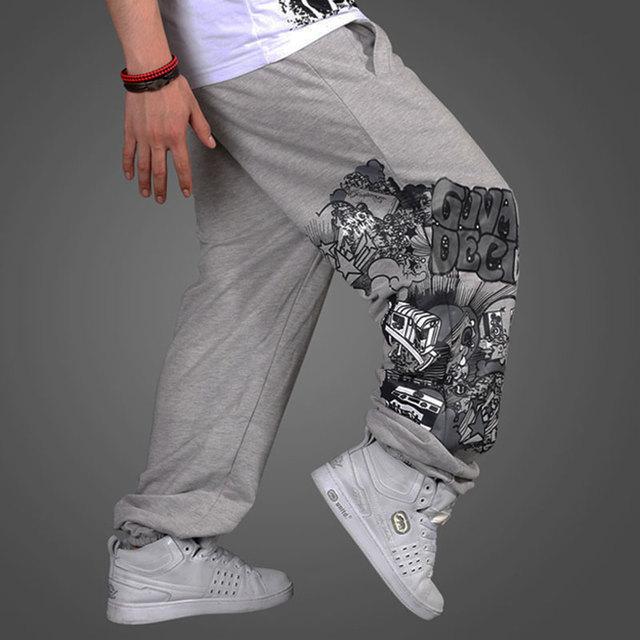 Venda quente calças dos homens hiphop calças hop lazer hip hop calças mais fertilizantes calças soltas frete grátis
