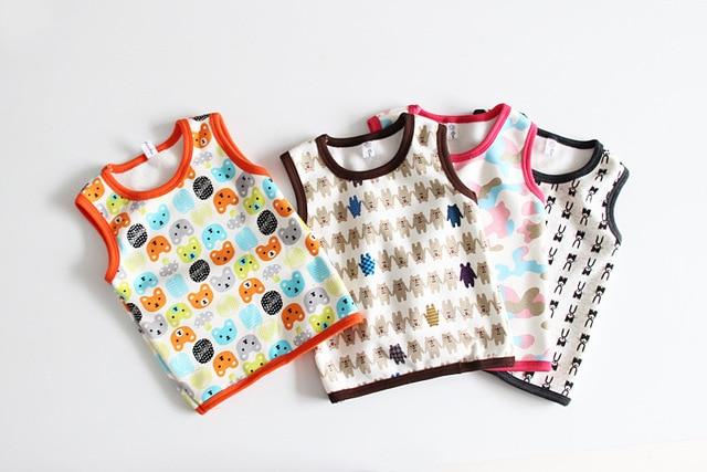 Осенние и зимние мальчики и девочки добавить бархат жилет носить хлопок жилет ребенок мультфильм жилет возрасте от 2-6 Т