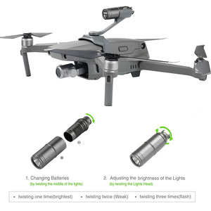 Image 3 - Drone رحلة ليلية أضواء أعلى كشاف الموسعة ل gopro hero منصب الكاميرا ل DJI mavic 2 برو/التكبير ملحقات طائرة بدون طيار