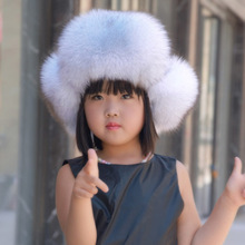 Rusia 2018 niños Real Fox Fur Lei Feng bombardero sombrero gorras otoño invierno  Niño niñas sombrero 2baf508bf59