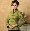 New Arrival Green Women's Jacket Chinese Classic Spring Coat Flowers Size S M L XL XXL XXXL Mujere Chaqueta Mny01-E