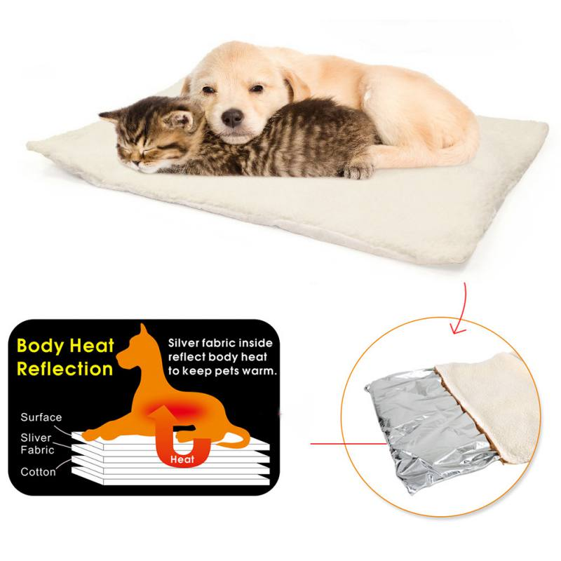 New Pet Dogs Self Heating Mats Puppy Winter Warm Bed House Nest Pads Pet Dog Product Supplies Kennel Mats Don't Plug