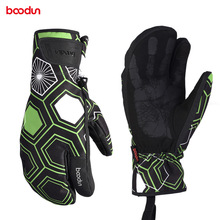 Boodun New Winter Men Women Ski Gloves Touch Screen Outdoor Sports Skiing Windproof Waterproof Oxford Cloth Snow