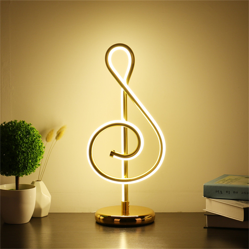 Creative Minimalist Art Lines Table Lamp Night light Musical Notes Bedroom Bedside Desk Light Living Room Study Reading LightCreative Minimalist Art Lines Table Lamp Night light Musical Notes Bedroom Bedside Desk Light Living Room Study Reading Light