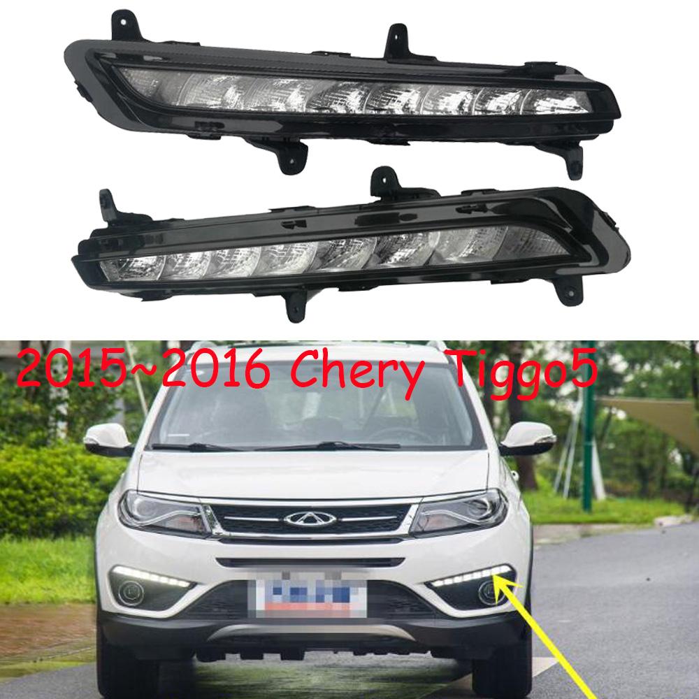 1pcs 2015 2016y for Chery Tiggo Tiggo5 daytime light car accessories Tiggo 5 LED DRL headlight for Chery Tiggo5 Tiggo fog light