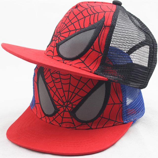 Mode Net Cap Araignée Superman Enfant Protection Solaire Casquette de Baseball Bande Dessinée Hip Hop Chapeau En Plein Air Casquettes de Baseball Pour Les Enfants Garçon fille