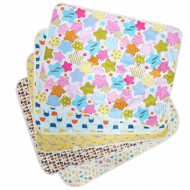 Baby Diaper Changing Pad 60X80cm Newborn Baby Nappy Changing Mat Waterproof Reusable Urine Mat 2018 Hot Sale Mattress Protector