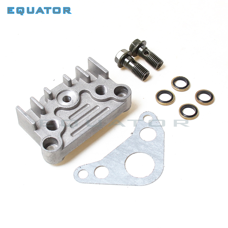 Motorcycle parts ying xiang CYLINDER HEAD Side Cover with Gasket and Oil throgh Screw FOR 125cc 140cc 150cc engine PIT DIRT BIKE