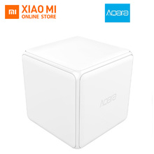Xiaomi Aqars Mi Magic Dice Controller Zigbee Model Managed by Six Actions For Good Dwelling Machine work with mijia mi dwelling app