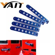 Yait дверные ручки вставки передний задний Алюминиевый поручень Накладка для Jeep Wrangler JK 2 двери и неограниченное количество аксессуаров 4 двери
