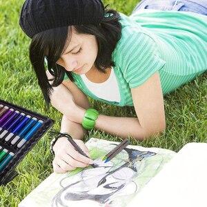 Image 5 - حافظة للرسم من إلهام ، وردي ستوديو فني محمول ، 150 طقم فني ومستلزمات التلوين هدية فنية للأطفال 4 & رائعة للارتيس
