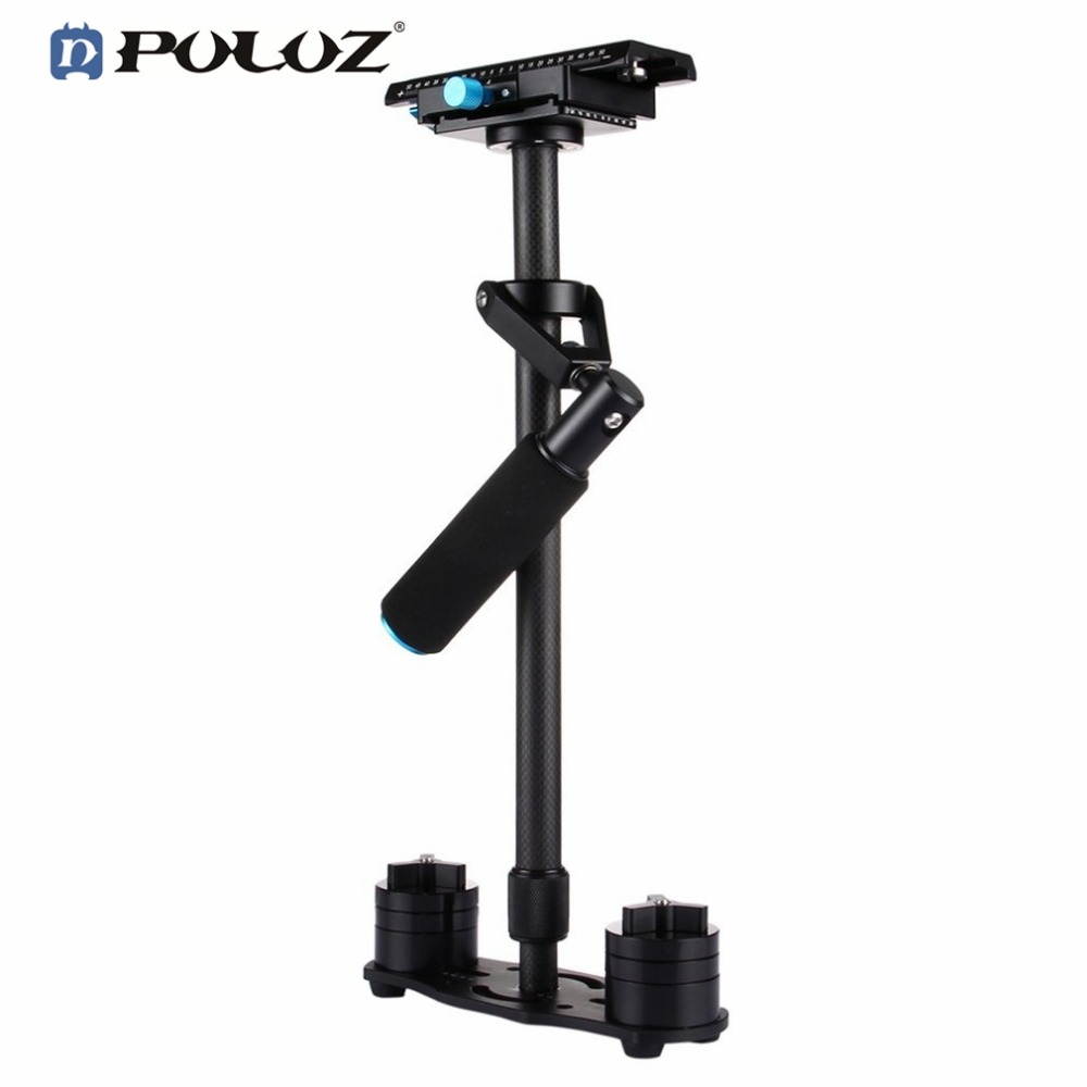 PULUZ P60T Carbon Fiber Handheld Stabilizer Shock Absorbers With Small Stanisan Shock Absorbers for SLR Mirrorless Video Camera ashanks mini carbon fiber handheld