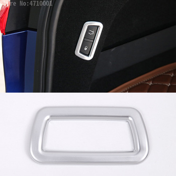 For Maserati Levante 2016 Car-Styling ABS Matte Chrome Car Rear Tail Door Switch Button Frame Cover Trim Sticker 1pc image